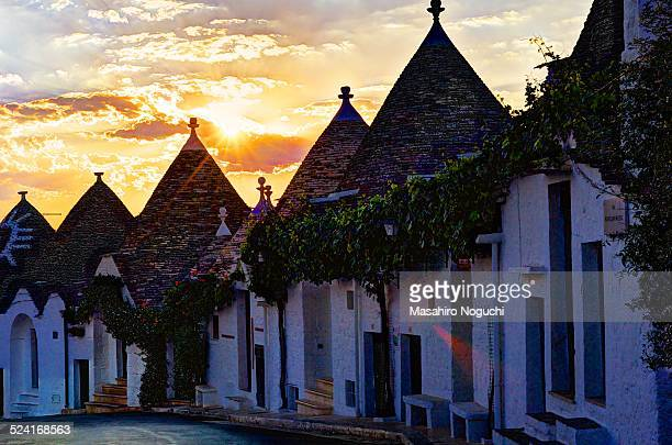 The trulli and the rising sun