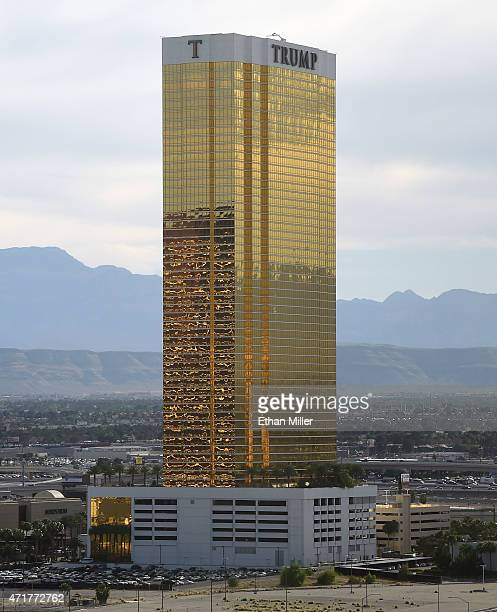 The Trump International Hotel Tower Las Vegas is seen from the Riviera Hotel Casino on April 30 2015 in Las Vegas Nevada The Las Vegas Convention and...