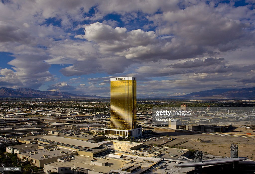The Trump International Tower November 18, 2012 in Las Vegas, Nevada. Tourism in America's ''Sin City'' is slowly making a comeback from the Great Recession with visitors filling the hotels, restaurants, and casinos in record numbers.