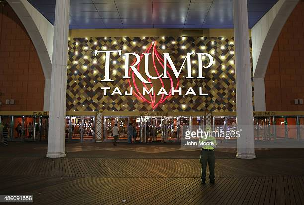 The Trump Taj Mahal stands on the boardwalk on August 26 2015 in Atlantic City New Jersey New casinos in neighboring states have drawn much of...