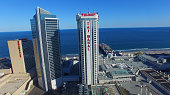 The Trump Taj Mahal's Chairman Tower center stands in this aerial photograph taken above Atlantic City New Jersey US on Monday July 11 2016 Casino...
