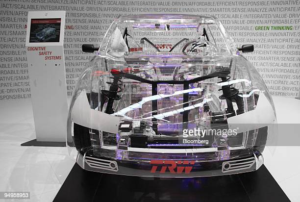 The TRW transparent automobile is seen on display on the opening day of the Frankfurt Motor Show in Frankfurt Germany on Thursday Sept 17 2009 The...