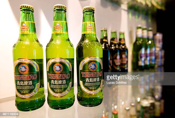 The Tsingtao beer museum showcases all the different bottles in which Tsingtao beer is sold around the world in Tsingtao brewery in the town of...
