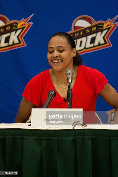 The Tulsa Shock announce the signing of former Olympian Marion Jones at The Crowne Plaza Hotel on March 10 2010 in Tulsa Oklahoma NOTE TO USER User...