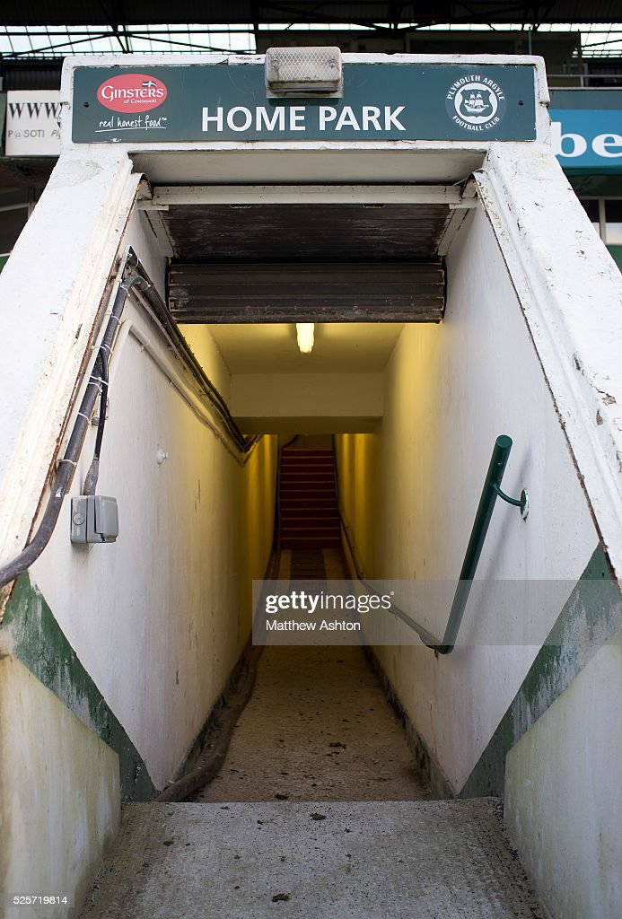 The Tunnel At Home Park Stadium Of Plymouth Argyle