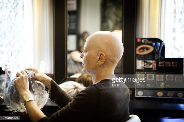 The Turbans Gallery Maryline psychologist and wigmaker Paris Treats cancer patients after chemotherapy and provides women with aesthetic solutions...