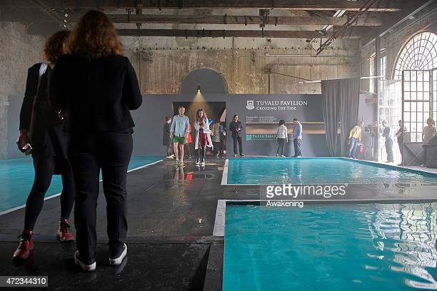 The Tuvalu pavillion at the Arsenale at the 56 Venice Biennale Art on May 6 2015 in Venice Italy
