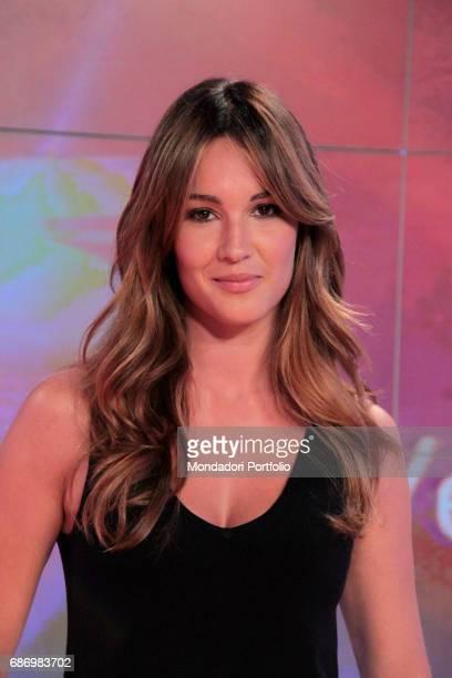 The TV presenter Silvia Toffanin posing 15th September 2010