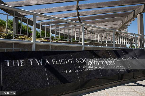 The 'TWA 800 International Memorial' dedicated to the 230 people who died from an explosion on flight TWA 800 in 1996 is seen on June 19 2013 in...