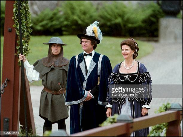 The twenty fith wedding anniversary of King Carl Gustav and Queen Sylvia of Sweden in Sweden on June 18 2001
