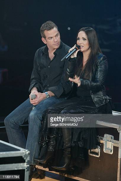 The Twenty Years Of The Zenith On January 14Th 2005 In Paris France Garou And Helene Segara