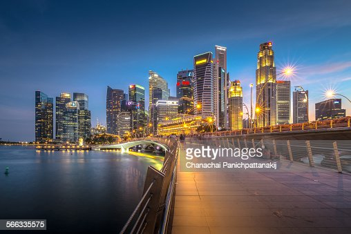 The twilight scene of Singapore city