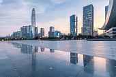 The twilight skyline of Shenzhen