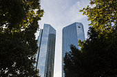 The twin tower skyscraper headquarter offices of Deutsche Bank AG stand in Frankfurt Germany on Monday July 25 2016 Deutsche Bank Chief Executive...
