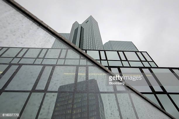 The twin tower skyscraper headquarter offices of Deutsche Bank AG stand in Frankfurt Germany on Thursday Oct 20 2016 Unlike Deutsche Bank which...