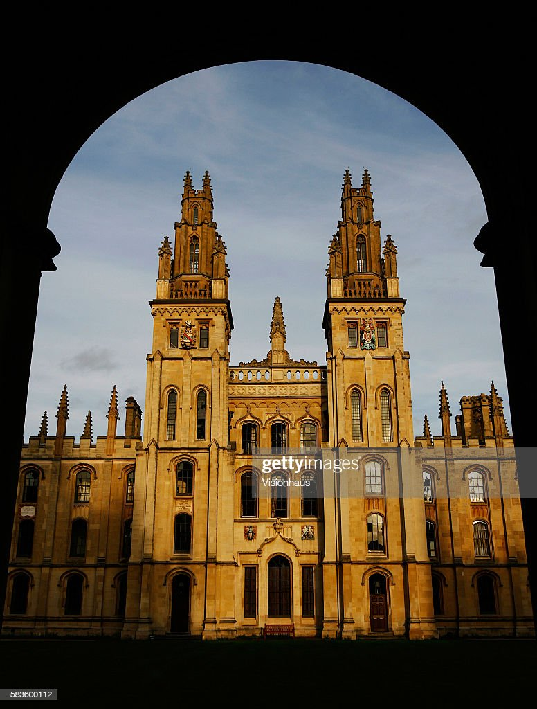 The twin towers of the Great Quad of All Souls College Oxford Affectionately named 'the city of dreaming spires' by nineteenth century English poet...