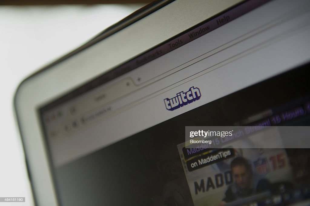 The Twitch Interactive Inc website is displayed on a computer for a photograph in San Francisco California US on Monday Aug 25 2014 Amazoncom Inc is...