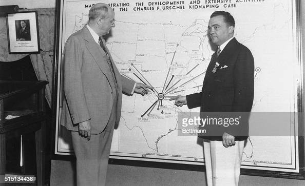 Cummings And Hoover Pointing At Map Pictures Getty Images - Us attorney map