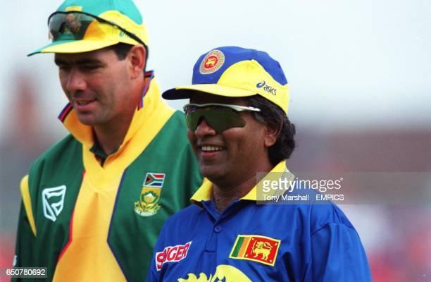 The two captains Sri Lanka's Arjuna Ranatunga and Hansie Cronje of South Africa