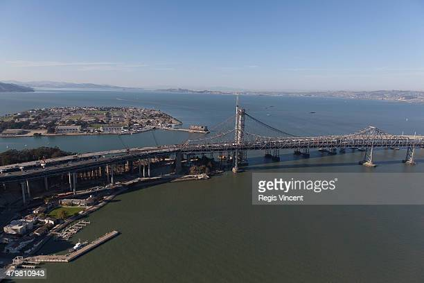 The two eastern portion of the Bay Bridge.