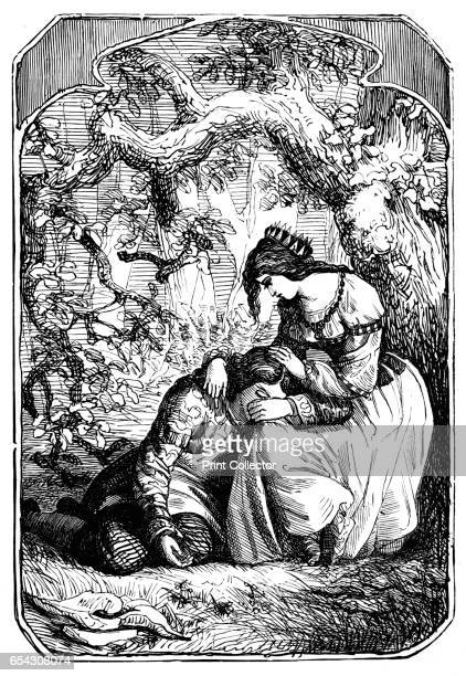 The Two Kings Children 1901 From Grimms Household Stories collected by the Brothers Grimm [George Routledge Sons Limited London 1901] Artist Edward...