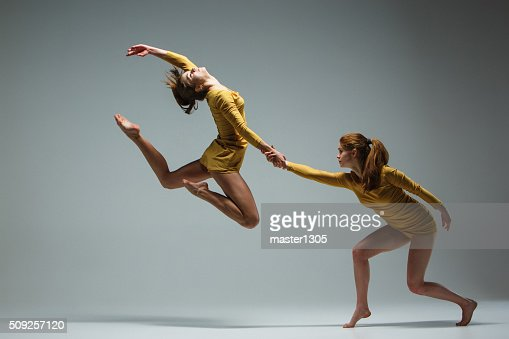 The two modern ballet dancers : Stock Photo