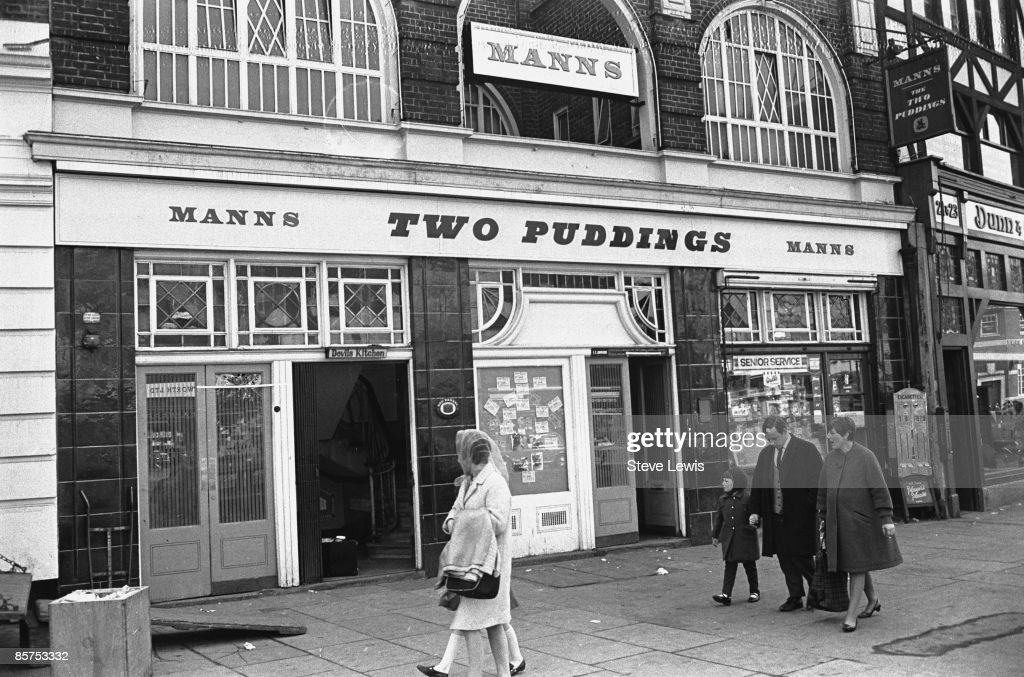 The Two Puddings, a pub in Stratford, in the East End of London, 1960s.