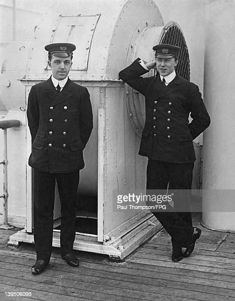 The two wireless operators from the 'RMS Olympic' who received a distress call from the 'Titanic' in April 1912 They are First Wireless Operator...