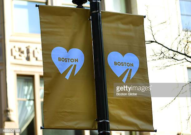 The two year anniversary of the Boston Marathon bombings was marked by a banner unveiling on Boylston Street at the finish line area