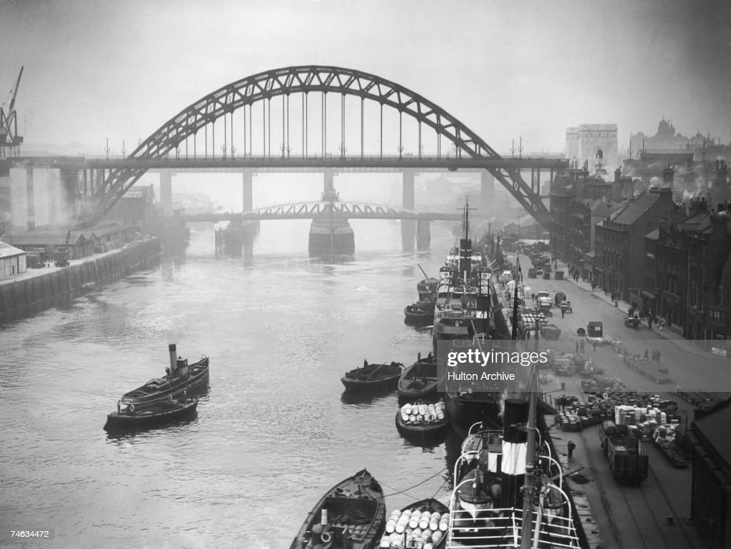 The Tyne Bridge in Newcastle Upon Tyne a few days before it was officially opened by King George V and Queen Mary 5th October 1928 The picture was...