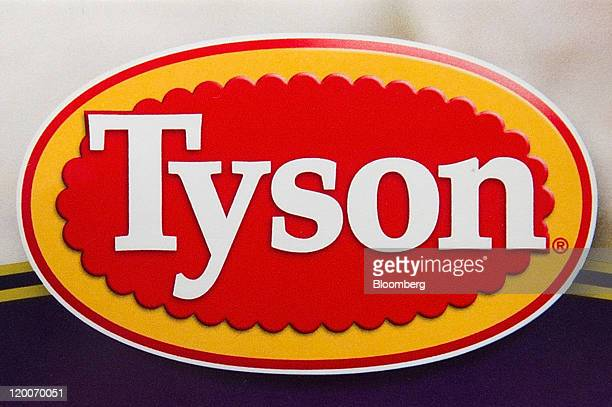 The Tyson Foods Inc logo is seen on a package of prepared food in San Francisco California US on Friday July 29 2011 The US chicken industry has...