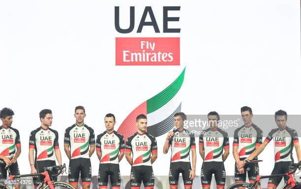 The UAE Team Emirates the UAEs firstever professional cycling team unveiled a new name logo team kit and three new sponsors On Tuesday February 21 in...