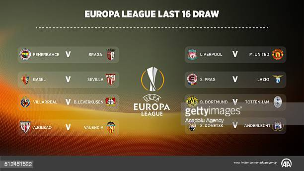 The UEFA Europa League round of 16 draw took place on Friday in Nyon Switzerland Liverpool drew Manchester United while Turkey's Fenerbahce drawn...