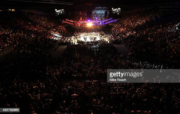 The UFC octagon before the main event during UFC Fight Night event inside the Saitama Arena on September 20 2014 in Saitama Japan