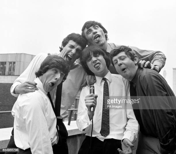 The Ugly's the Birmingham pop group whose debut record was 'Wake Up my Mind' Pictured in London they are front left to right Jim Holden Bob Burnett...
