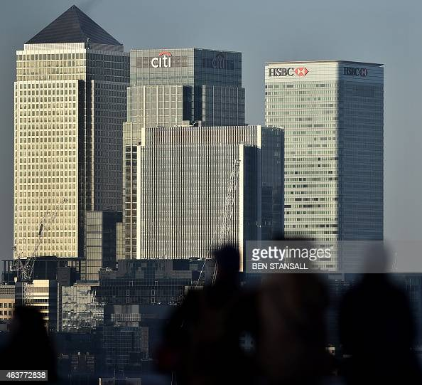 The UK headquarters of HSBC is seen at Canary Wharf in London on February 18 2015 Morocco's King Mohammed VI said Wednesday his bank account with...