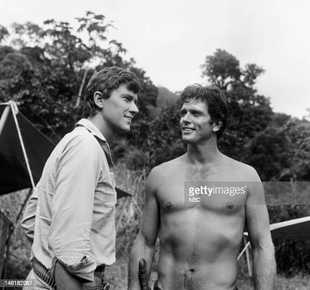 TARZAN 'The Ultimate Weapon' Episode 2 Pictured Andrew Prine as Peter Haines Ron Ely as Tarzan