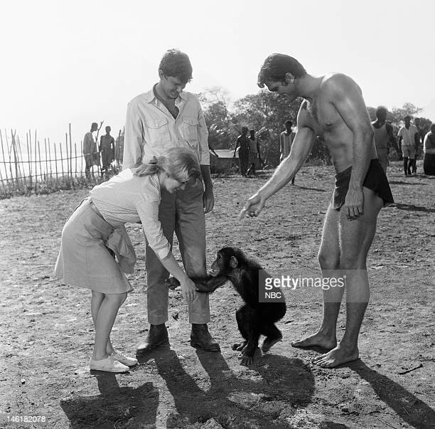 TARZAN 'The Ultimate Weapon' Episode 2 Pictured Sheilah Wells as Carrie Haines Andrew Prine as Peter Haines Ron Ely as Tarzan