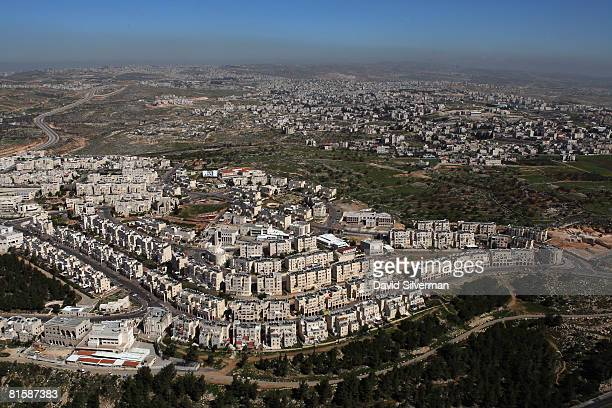 The ultraOrthodox Jewish neighborhood of Ramat Shlomo the latest Israeli development on land it captured from Jordan in the 1967 Six Day War is seen...