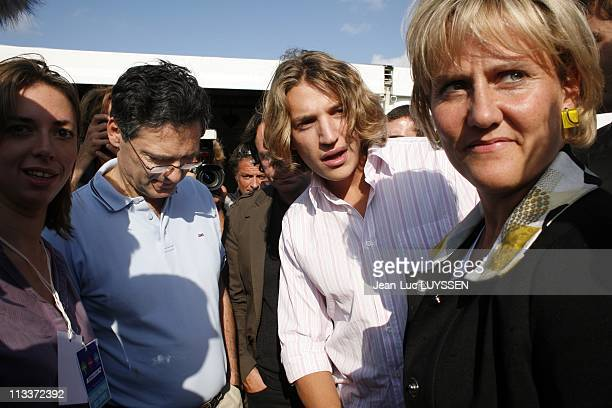 The Ump Campus In Royan France On September 06 2008 Patrick Devedjian Nadine Morano Jean Sarkozy