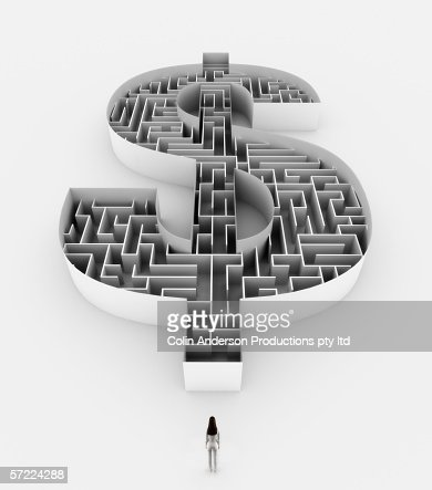 The uncertainty of money and business : Stock Photo
