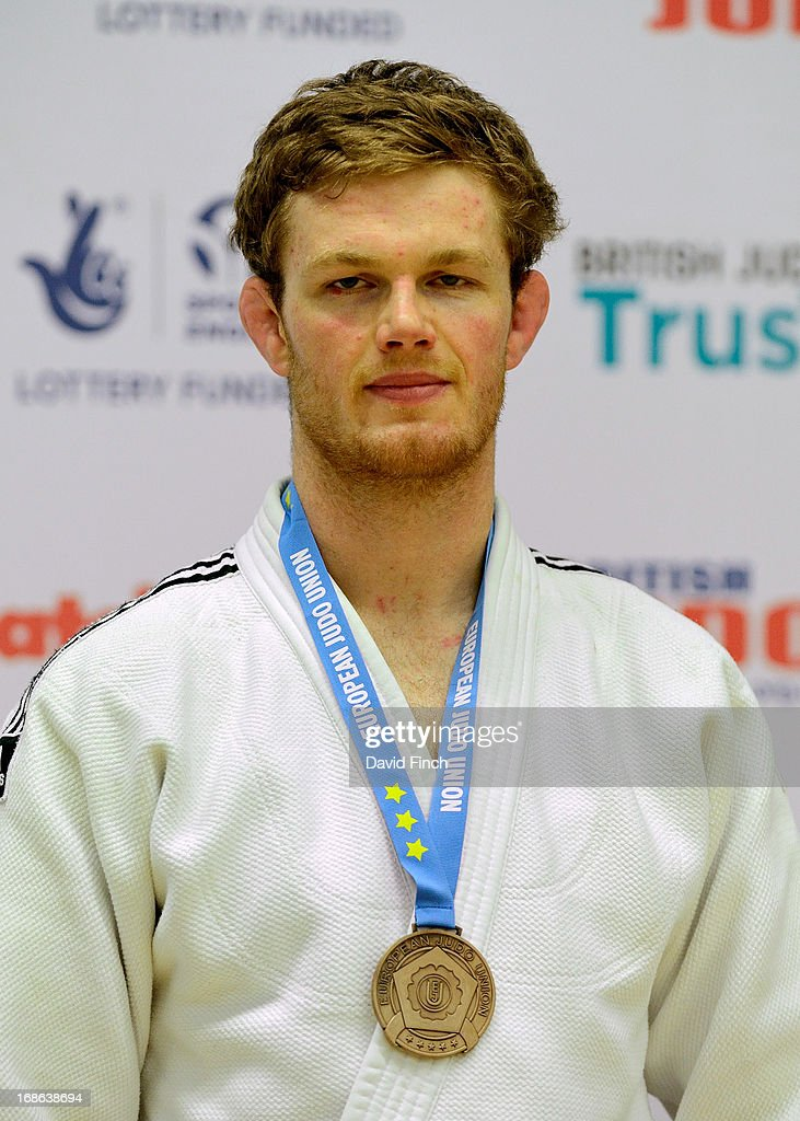 The under 90kgs bronze medallist, Michael Horley of Great Britain during day 2 of the London British Open Judo Championships at the K2 on May 12, 2013 in Crawley, United Kingdom.