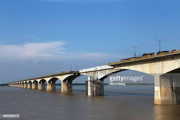 The under repair Mahatma Gandhi Setu bridge stands over the Ganges river in Patna Bihar India on Monday July 27 2015 More than anywhere Bihar...