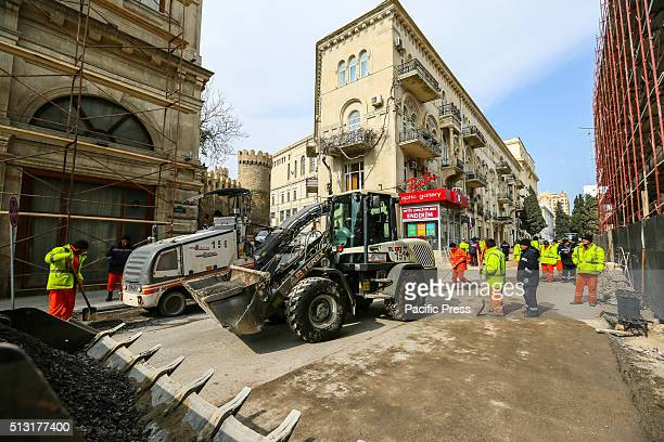 The underconstruction International Circuit is seen in Aziz Aliyev Avenue Baku is scheduled to host the inaugural Formula One Grand Prix of Europe on...