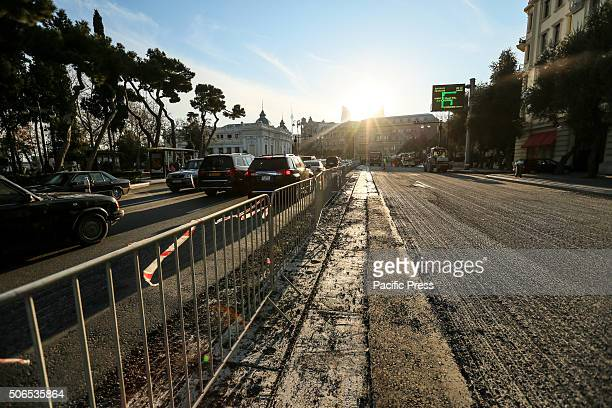 The underconstruction International Circuit is seen in Neftchilar Avenue Baku is scheduled to host the inaugural Formula One Grand Prix of Europe