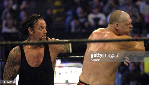 The Undertaker vs Kane during Wrestle Mania XX at Madison Square Garden in New York City New York United States