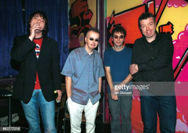 The Undertones group portrait backstage at Concorde 2 Brighton United Kingdom 22 November 2004 LR Paul McLoone John O'Neill Damian O'Neill Michael...