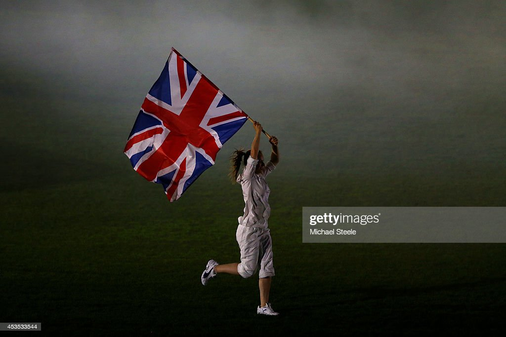 The Union Jack is displayed at the opening ceremony during day one of the 22nd European Athletics Championships at Stadium Letzigrund on August 12, 2014 in Zurich, Switzerland.