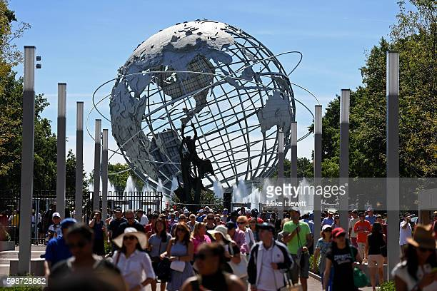 The Unisphere is seen as fans enter the grounds on Day Five of the 2016 US Open at the USTA Billie Jean King National Tennis Center on September 2...