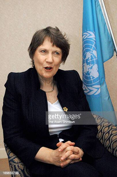 The United Nations Development Programme Administrator Helen Clark speaks during the Asahi Shimbun Interview on the sidelines of the threeday TICAD...